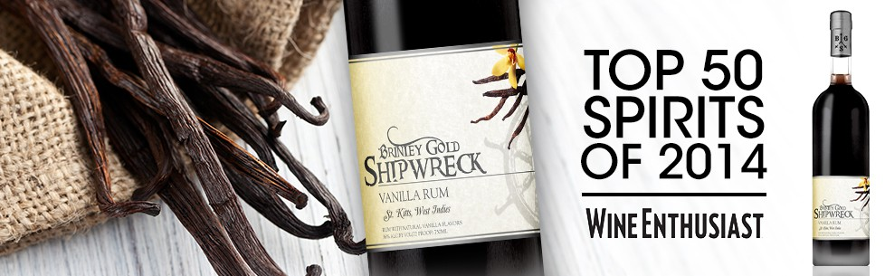 Brinley Gold Shipwreck Vanilla Rum Named Top 50 Spirit of 2014 by Wine Enthusiast